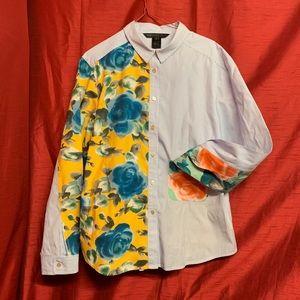 Marc Jacobs Multi Candy Stripe Button Down Size L